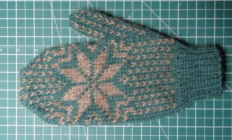 Frost mitten knitted in LettLopi by Deborah Cooke