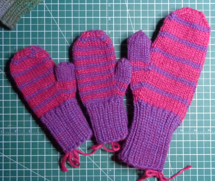Mittens knit in Patons Alpaca Blend by Deborah Cooke