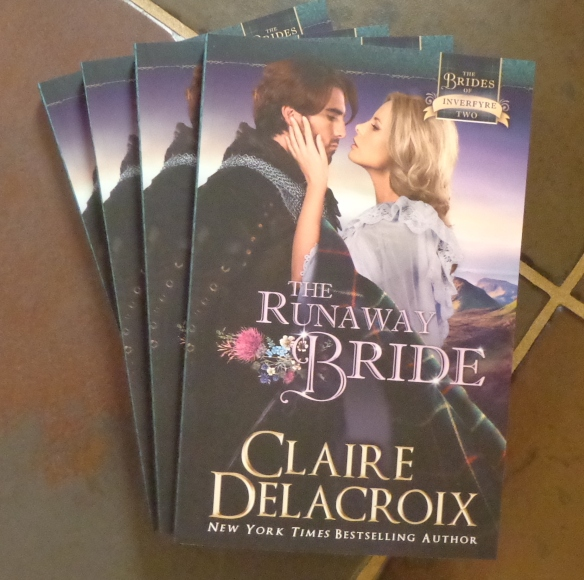 The Runaway Bride by Claire Delacroix in trade paperback