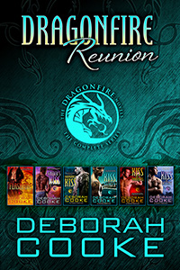 Dragonfire Reunion, volume three of the Complete Dragonfire Novels digital bundles including Flashfire, Ember's Kiss, Harmonia's Kiss, Kiss of Danger, Kiss of Darkness and Kiss of Destiny from the Dragonfire novels series of paranormal romances by Deborah Cooke