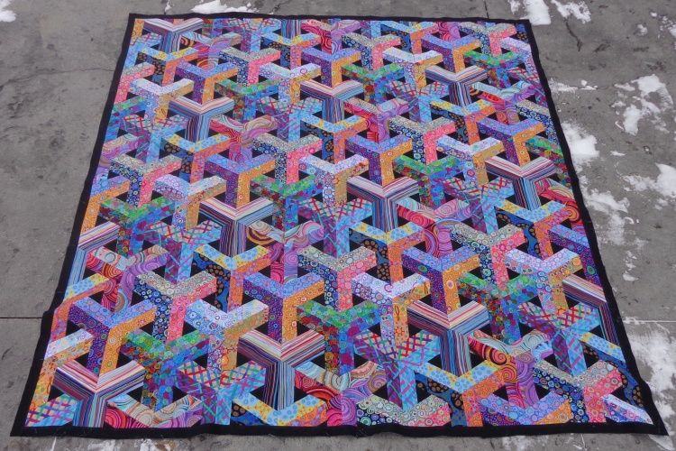 Escher quilt pieced by Deborah Cooke