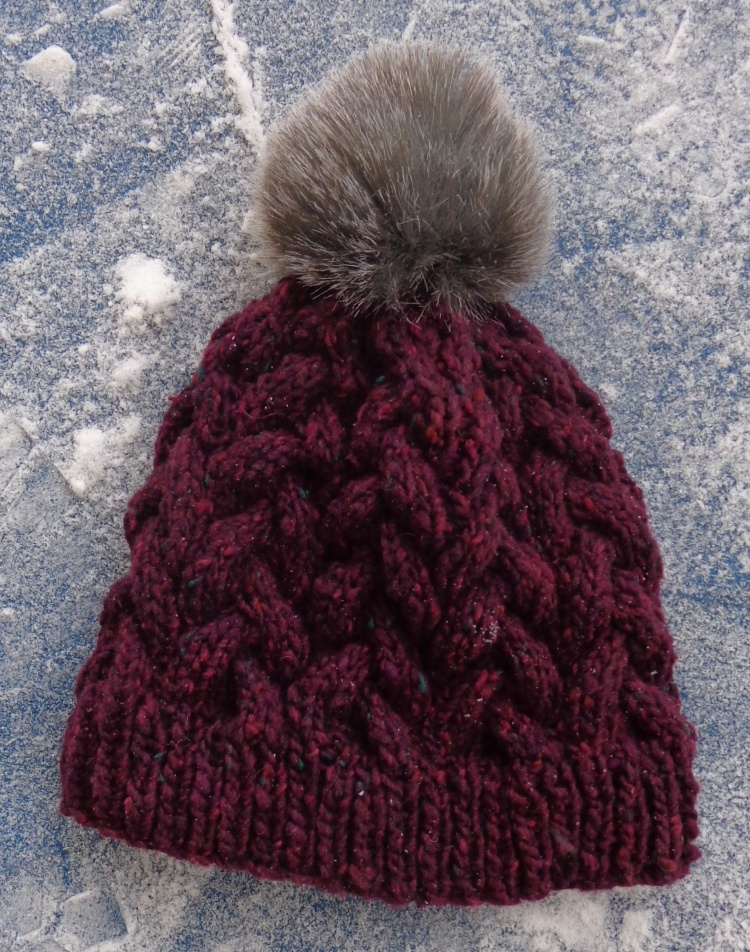 First Snow hat knit by Deborah Cooke