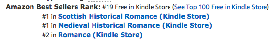 The Beauty Bride, book one in the Jewels of Kinfairlie series of medieval Scottish romances by Claire Delacroix at #1 in Medieval romance, #1 in Scottish historical romance and #18 overall free in the Kindle store on February 21, 2019