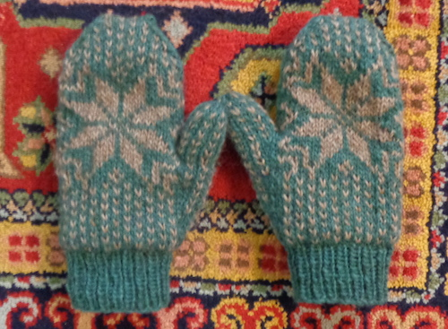Frost Mittens knit in LettLopi by Deborah Cooke