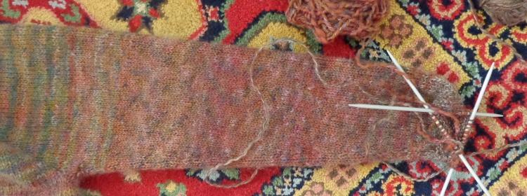 Comfort Fade Cardigan in Rowan Colourspun knit by Deborah Cooke