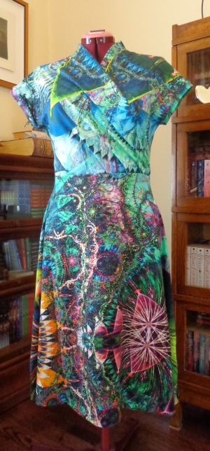 Mirri wrap dress sewn by Deborah Cooke