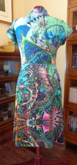 Mirri wrap dress sewn by Deborah Cooke
