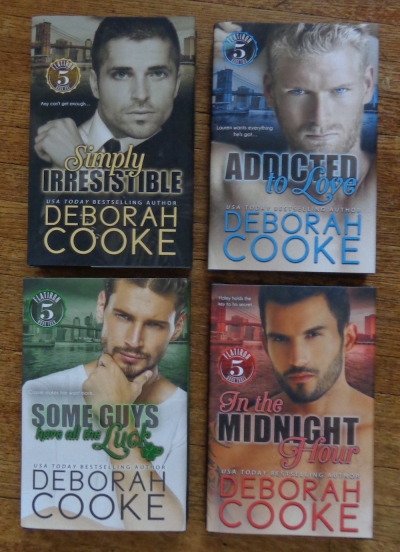 The Flatiron Five series of contemporary romances by Deborah Cooke in hard cover editions
