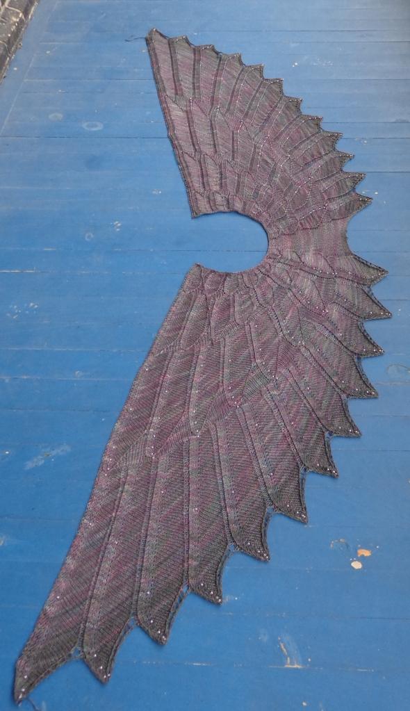 Wingspan Shawl knit by Deborah Cooke