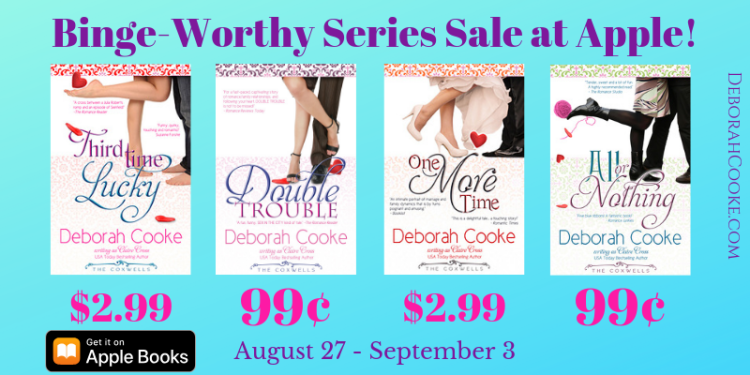 The Coxwell Series of contemporary romances and romantic comedies by Deborah Cooke, on sale in the Binge-Worthy Series Sale at Apple August 27 - September 3 2019