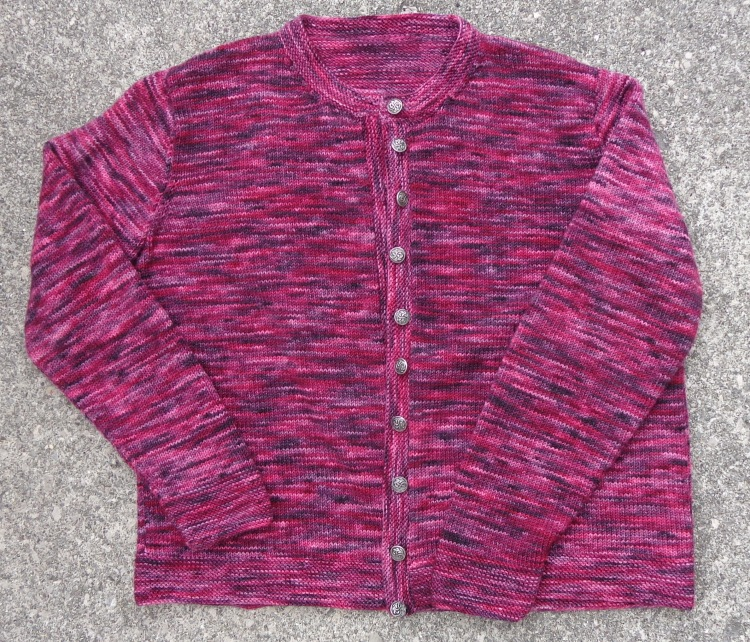Lunenberg Cardigan knit in Koigu KPPPM by Deborah Cooke