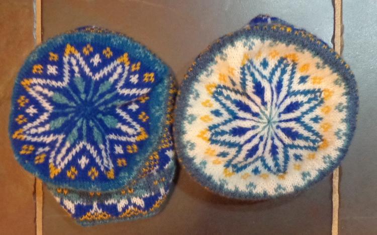 Harriet's Hat, knit in J&S yarn by Deborah Cooke