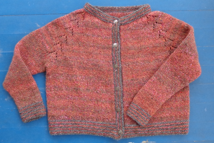 Felix cardigan knitted in Rowan Renew by Deborah Cooke