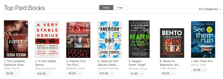 Flatiron Five, the First Collection, a digital bundle of three contemporary romances by Deborah Cooke, at #3 overall in the Apple store on January 22, 2020