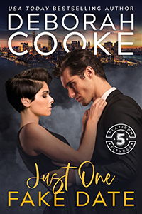 Just One Fake Date, book one of the Flatiron Five Fitness series of contemporary romances by Deborah Cooke