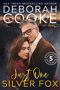 Just One Silver Fox, book six of Flatiron Five Fitness series of contemporary romances by Deborah Cooke