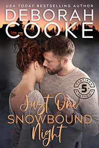 Just One Snowbound Night, book one of the Flatiron Five Tattoo series of contemporary romances by Deborah Cooke