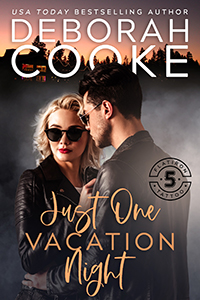 Just One Vacation Night, book two of the Flatiron Five Tattoo series of contemporary romances by Deborah Cooke