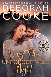 Just One Unforgettable Night, book three of the Flatiron Five Tattoo series of contemporary romances by Deborah Cooke