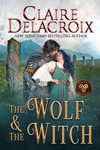 The Wolf & the Witch, book one of the Blood Brothers trilogy of medieval Scottish romances by Claire Delacroix