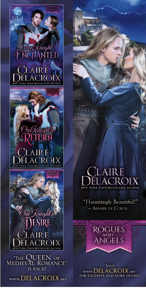 bookmark for the Rogues & Canels series of medieval romances by Claire Delacroix