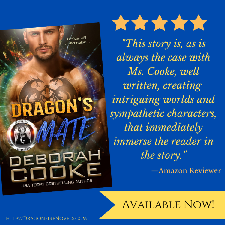 five star review for Dragon's Mate, book four of the DragonFate series of paranormal romances by Deborah Cooke