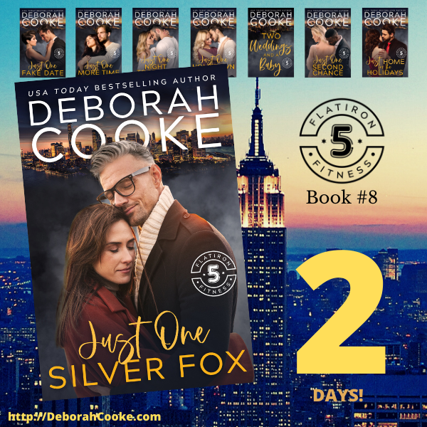 Just One Silver Fox, book 8 in the Flatiron Five Fitness series of contemporary romances by Deborah Cooke, coming February 25, 2021