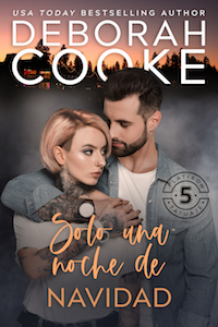 Just One Christmas Night, book four the Flatiron Five Tattoo series of contemporary romances by Deborah Cooke, Spanish edition