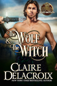 The Wolf and the Witch, book one of the Blood Brothers trilogy of medieval Scottish romances by Claire Delacroix