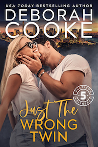Just the Wrong Twin, book nine of the Flatiron Five Fitness series of contemporary romances by Deborah Cooke