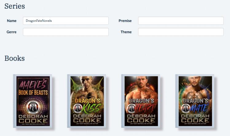 The DragonFate Novels tracked in Plottr by Deborah Cooke