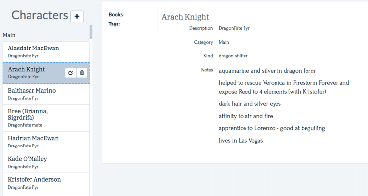 Arach Knights, one of the Pyr in DragonFate by Deborah Cooke, tracked in Plottr