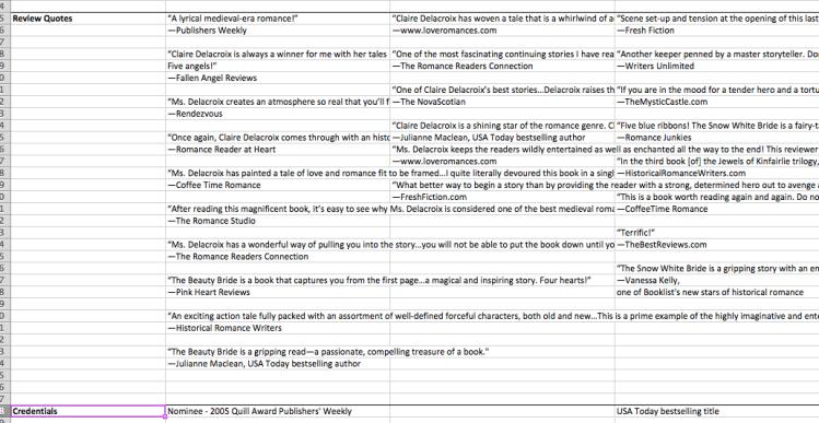 All the things metadata spreadsheet #2 by Deborah Cooke