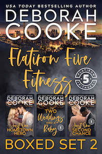 Flatiron Five Fitness Boxed Set 2, including books 4 to 6 of the contemporary romance series by Deborah Cooke