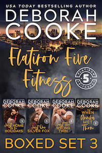 Flatiron Five Fitness Boxed Set 3, including books 7 - 10 of the contemporary romance series by Deborah Cooke